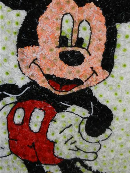 Mickey Mouse Funeral Flowers Tribute